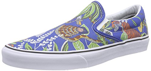 Vans Classic Slip-On Sneaker, Unisex Adulto, Blu (Disney/The Jungle Book/Classic Blue), 38.5