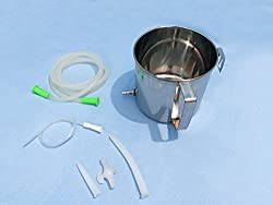 IndoSurgicals Stainless Steel Enema Kit (1 Quart)