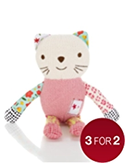 Emily Button™ Knitted Bobble Cat Soft Toy