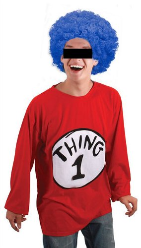Bewild Economy Blue Afro Wig - Halloween Costume Party Wig