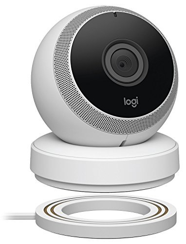 Logitech Circle Wireless HD Video Security Camera with 2-way talk – White – (Certified Refurbished)