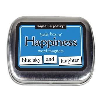 Little Box Of Happiness Word Magnets
