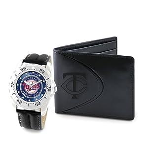 Mens MLB Minnesota Twins Watch & Wallet Set by Jewelry Adviser Mlb Watches