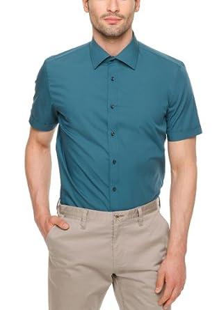 SIR Oliver Herren Slim Fit Businesshemd 12.404.22.7301, Gr. Small (Herstellergröße: 38), Grün (ocean)