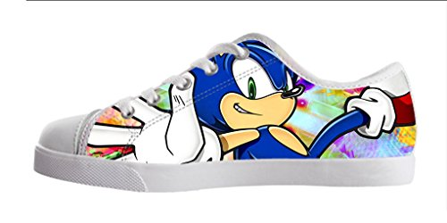 YKMS Customize Sonic The Hedgehog Kids Canvas Shoes Footwear Sneakers Flat Shoes (Sonic The Hedgehog Sneakers)