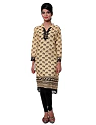 TeeMoods Womens Long Printed Kurti With Long Sleeves - B00VG8WJ86