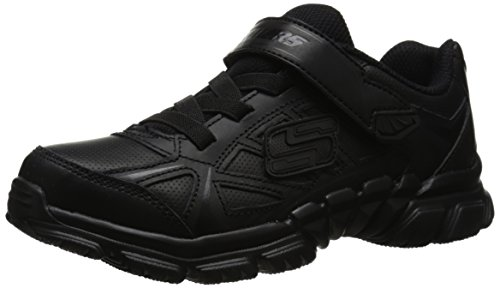 Skechers Kids Tough Trax School Shoe ,Black,1 M US Little Kid