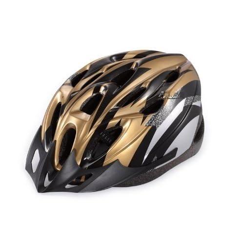 自転車用 安心安全ヘルメット(金黒)