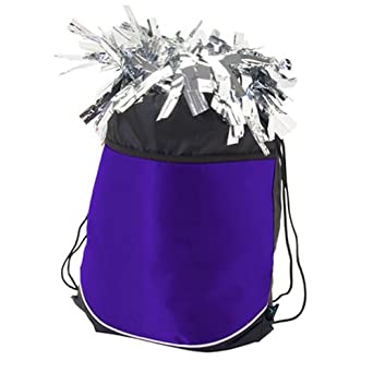 Pizzazz Girls Purple Stringpack Pom Cheer Dance Backpack Bag