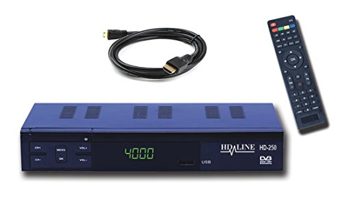 HD-Line HD-250 Démodulateur Récepteur satellite Noir (reception Free to Air, non-compatible TNT)