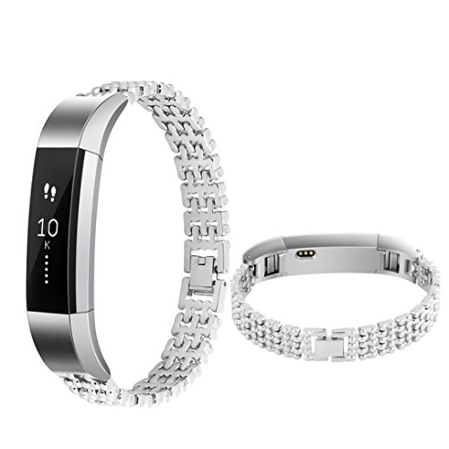 DEESEE(TM) Wristband Stainless Steel Watch Band Wrist strap For Fitbit Alta Smart Watch (Silver) (Watch Strap Stainless Steel 10mm compare prices)