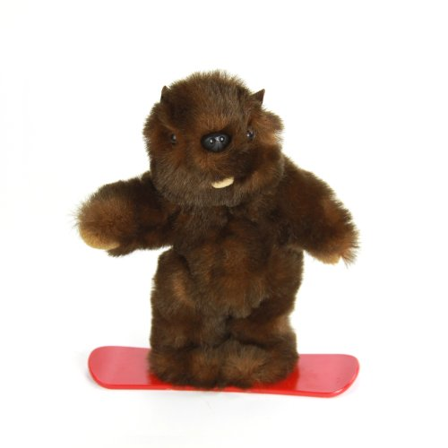 "Purr-Fection Timber Junior Snowboard Beaver 9"" Plush"