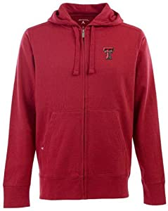 Texas Tech Signature Full Zip Hooded Sweatshirt (Team Color) by Antigua