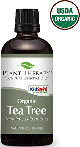 USDA Certified Organic Tea Tree (Melaleuca) Essential Oil. 100 ml (3.3 oz). 100% Pure, Undiluted, Therapeutic Grade.