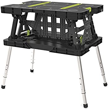 Keter 17200954 Folding Work Table EX with Extendable Legs