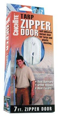 Homax Products 6025 CinchTite Peel 'N Stick Tarp Zipper Door 7' image
