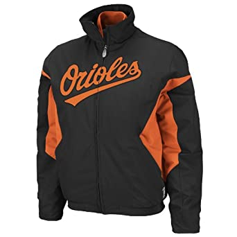 MLB Baltimore Orioles Triple Peak Ladies Jacket, Black Red by Majestic