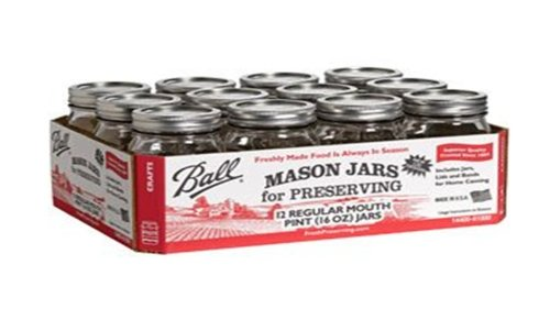 Ball Mason 16-Ounce Canning Jars, Pint, 12 Count front-163465