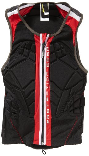 ALPINA Erwachsene Rückenprotektor Jacket Soft Protector II, Black/Red, 178-187 cm, A8855733