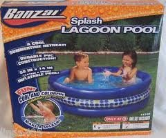 Inflatable drinking water Slides:Banzai dash Lagoon swimming pool Images