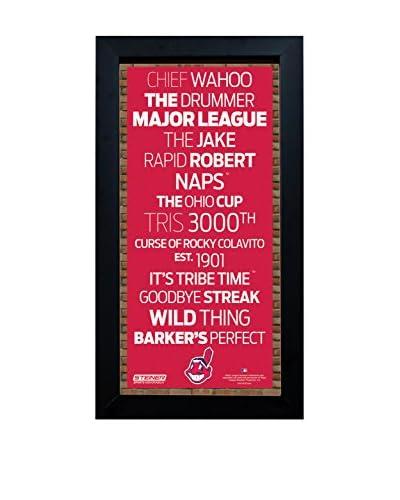 Steiner Sports Memorabilia Framed Cleveland Indians Subway Sign