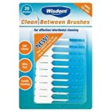 Wisdom Clean Between Interdental Brushes x 20 Brushes Blue Fine