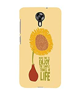 printtech Cool Quotes Life Back Case Cover for Micromax Canvas Xpress 2 E313