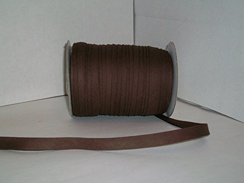 Brown Double Fold Bias Tape 50 Yds. 1/2 Inch