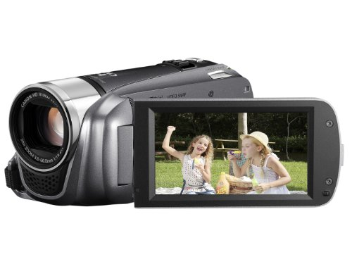 Canon LEGRIA HF R206 High Definition Camcorder - Grey (20x Optical Zoom, 3 inch Touchscreen LCD)