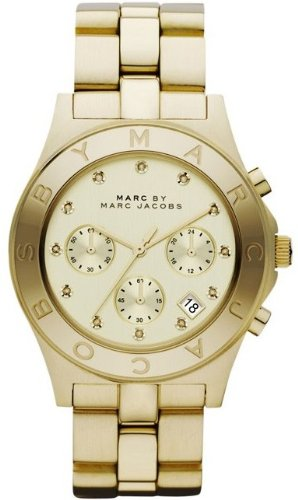 Marc Jacobs Chrono Glitz Gold Dial Women's Watch MBM3101