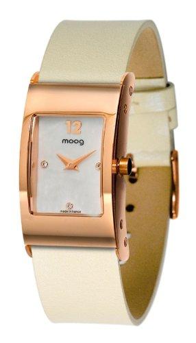 Moog Women's Watch Time to Change M41661-005 Analogue Quartz Nacre Dial Calfskin Leather Strap White Pearl