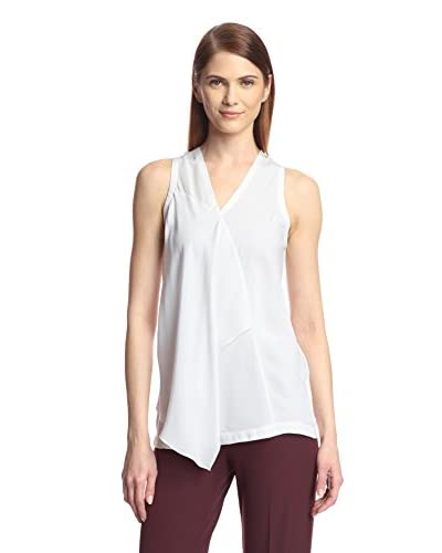 Yigal Azrouel Women's V-Neck Blouse with Front Drape