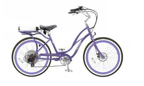 Pedego Step-Through Cruiser Purple with Purple Rims Tire/Seat Package: Standard