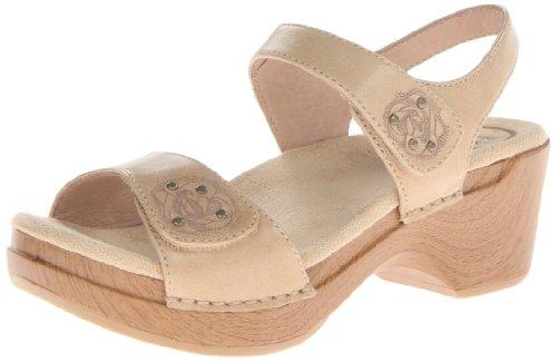 Dansko Women's Sonnet Dress Sandal, Sand Full Grain, 39 EU/8.5-9 M US