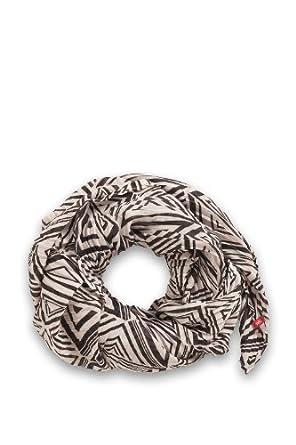 edc by ESPRIT Damen Tuch 123CA1Q003, Gr. one size, Mehrfarbig (001 BLACK)