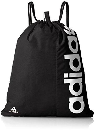 [アディダス] adidas リニアジムバッグ MII12 AJ9970 (ブラック/ブラック/ホワイト)