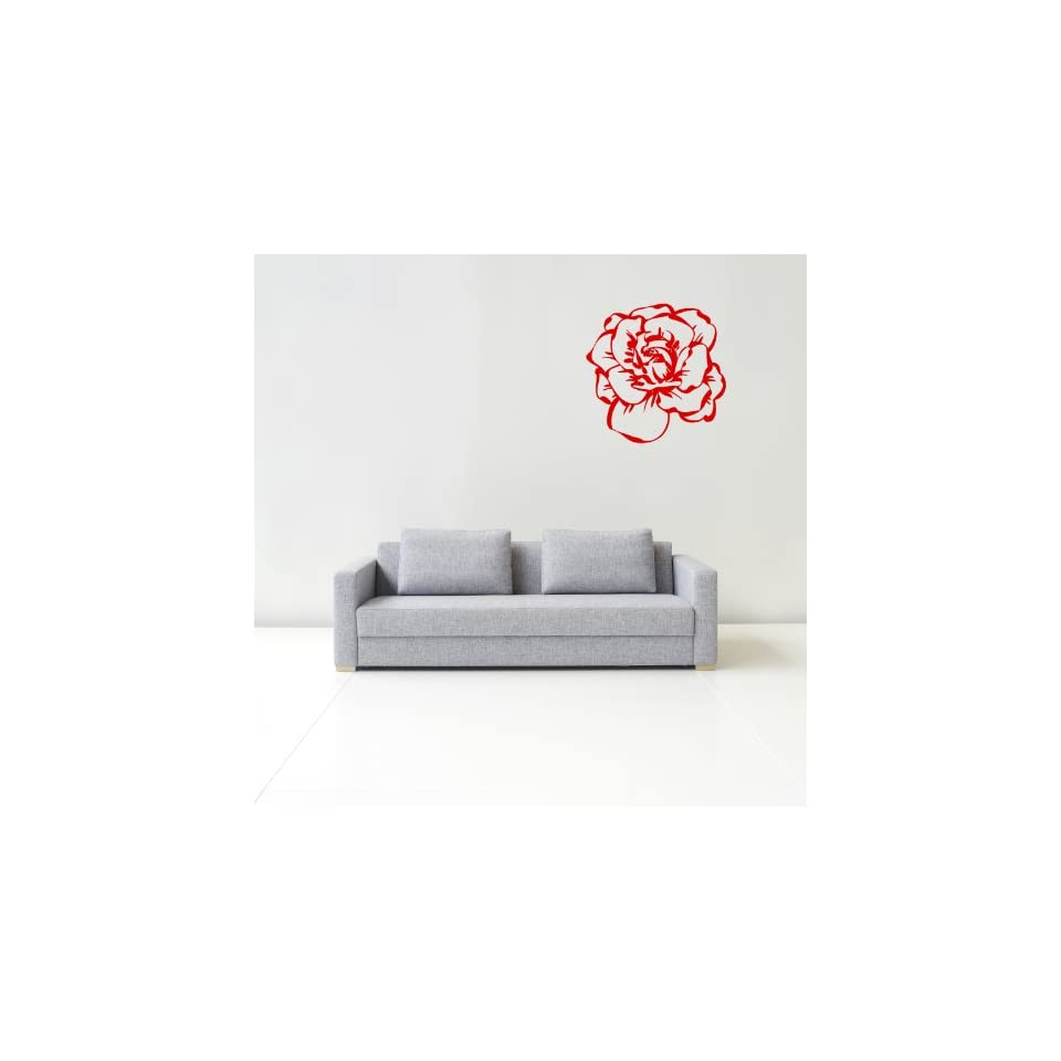 Wall Decals Rose Flower Blooming Decor Floral Decal Vinyl Sticker Bedroom Living Room Home Art Mural OS158