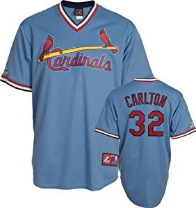 Steve Carlton St Louis Cardinals Replica Cooperstown Jersey by Majestic by Majestic