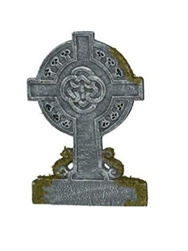 22in Mossy Celtic Cross Tombstone (Standard)