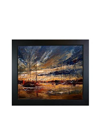 Justyna Kopania Harbour Framed Canvas Print