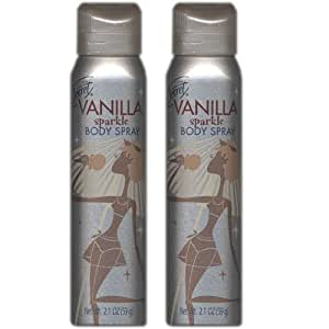 Secret Vanilla Sparkle Body Spray 2.1 oz (2 PACK)
