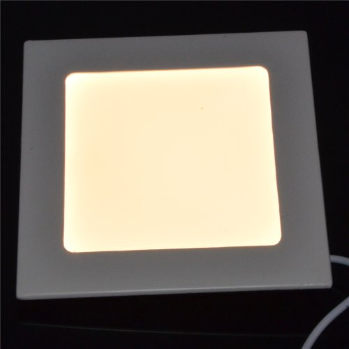 Inst 6W 4.7-Inch Led Ultra-Thin Panel Light, Downlight, Square Shape With Warm White Color Light