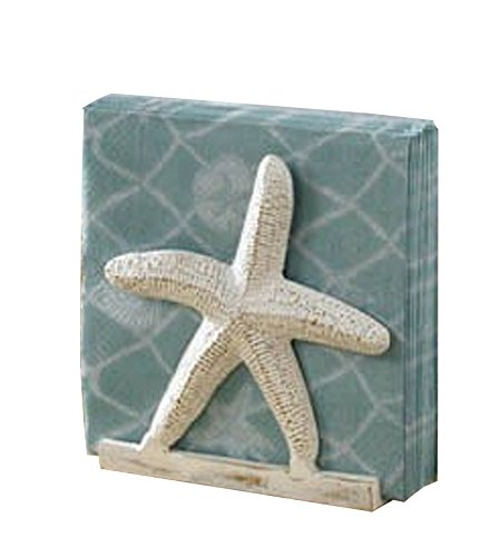 Primitive Home Decors Tropical Nautical Starfish Lunch Napkin Holder