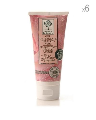 Omnia Botanica Set 6 Piezas De Gel Facial Limpiador Con Aceite De Rosa De Mosqueta 75 ml Ud.