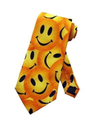 Steven Harris Mens Smiley Face Necktie - Yellow - One Size Neck Tie (Funny Men Ties compare prices)