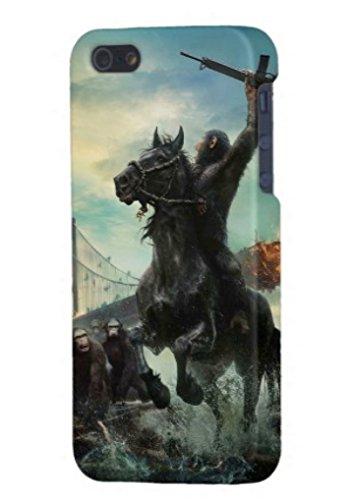 猿の惑星 新世紀 ライジング iphone5S (ハード) iphone 携帯カバー 全面プリントケース 携帯ケース 背面&側面プリント DVD Blu-ray 猿の惑星 ジェネシス