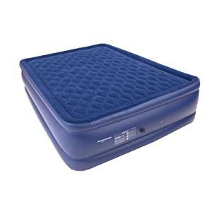 Smart Air Beds Diamond Top Elite Queen Raised Pillowtop Air Bed, Blue