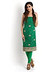 Green Banarasi Kurta with Gota-Patti Work