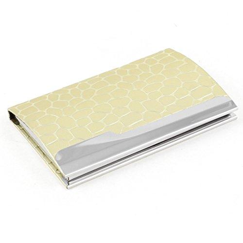 Sourcingmap Magnetverschluss Schlangenmuster Business Card Tasche Hülle Case Cover-Gold