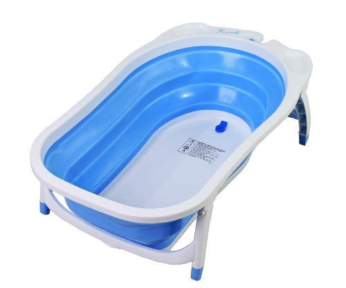 Dream On Me Tidy Tub Space Saving Expandable Baby Bathtub, Blue